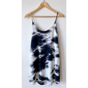 🌵 B&W Tie Dye Tank Dress | Boho Mumu Style